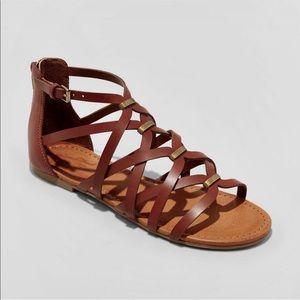 Universal Thread Cognac Kerri Gladiator Sandals